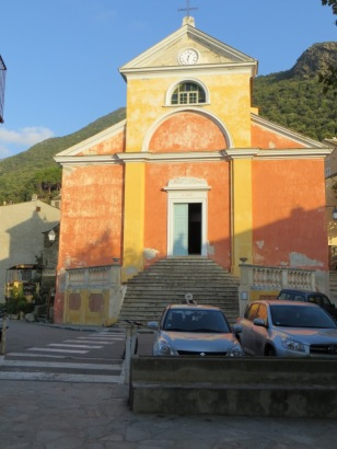 The church at Nonza on Cap Corse
