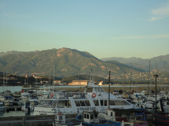 View across the bay at Ajaccio