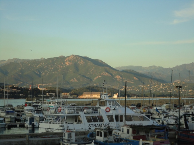 View across the bay at Ajaccio