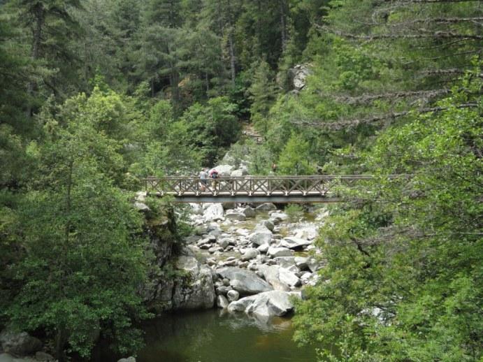 Footbridge over the Tavignanu