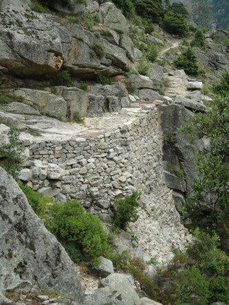 Ancient Tavignanu mule track