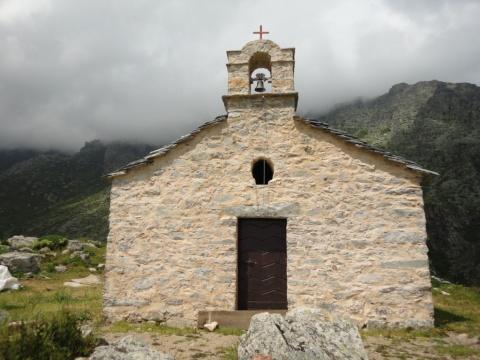 The chapel of Saint Elisio at Saint-Pietro di Venaco.