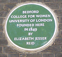 Bedford College plaque