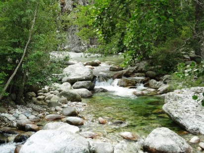 River Restonica near Corte. Streams and rivers were places of veneration as well as superstition