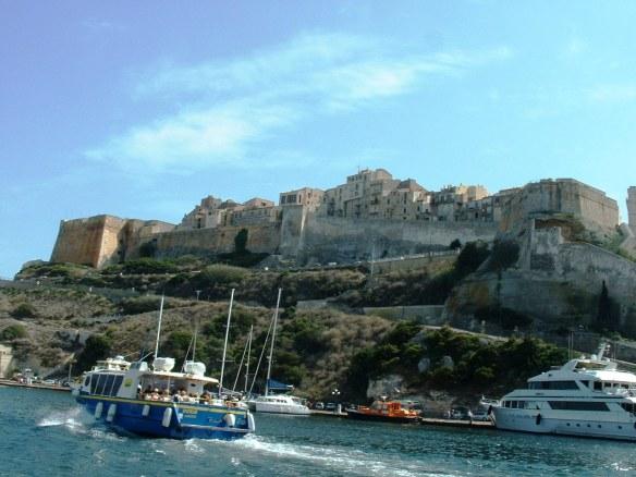 Bonifacio from the sea