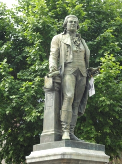 Statue of Pasquale Paoli in Corte, his heartland